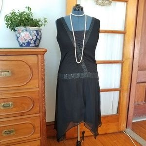 Unique Vintage 1920s Flapper Dress
